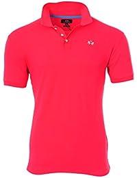 La Martina Polo Poloshirt Herren Rosa Slim Fit Baumwolle Casual L