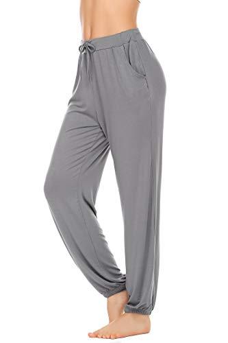 Unibelle Yogahosen Damen Lang Hose Weich Jogginghose mit Tasche Sporthose für Yoga Pilates Fitness Training