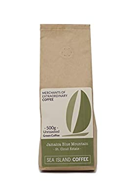 Sea Island Coffee Jamaica Blue Mountain, St Cloud Estate, Unroasted Raw Green Coffee Beans (500g Bag) from Sea Island Coffee