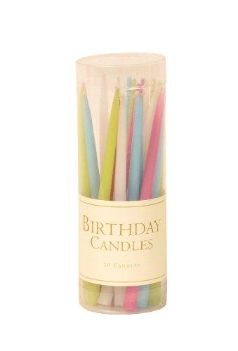 Caspari Entertaining Geburtstagskerzen ohne Duftstoffe, 7,6cm, Pastelltöne, 20 Stück