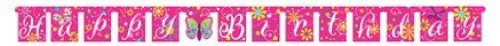 Creative Converting Schmetterling Sparkle Jointed Banner Happy Birthday