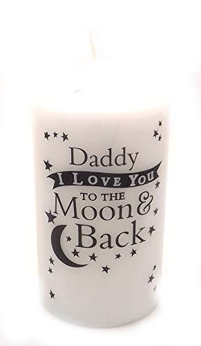 Chris Bag of Goodies DADDY I Love You To The Moon And Back Kerze Neuheit Geschenke Idee für Geburtstag Weihnachten Väter Tag von Sohn Tochter I