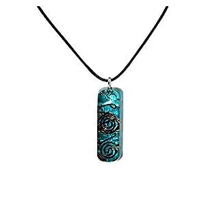Orgone Pendant – Emf Protection Orgone Energy Generator Healing Chakra Aquamarine Natural Crystal Orgonite Pendant Necklace for Chakra Balance Anxiety Relief Meditation- Yoga Necklaces
