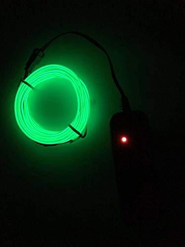 SOUTHSKY EL Wire 3M de vert de néons waterproof conduit intérieur/extérieur des décorations de noël (GREEN)