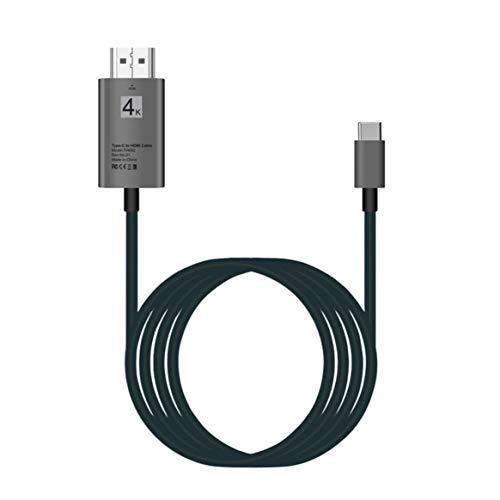 High-Speed 30Hz USB 3.1 Typ C zu HDMI HD Kabel Adapter Konverter 4K x 2K Plug & Play-Monitore Projektoren zum Teilen - Schwarz