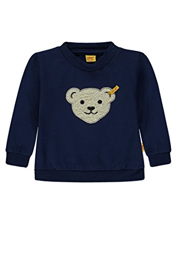 Steiff Baby-Jungen Sweatshirt 1/1 Arm, Blau (Medieval Blue 3062), 62