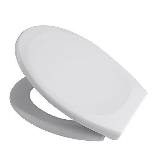 Coorun WC Sitz weiß O/U-Form Absenkautomatik Softclose Abnehmbar Easy Clean Toilettendeckel überlappend Klobrille
