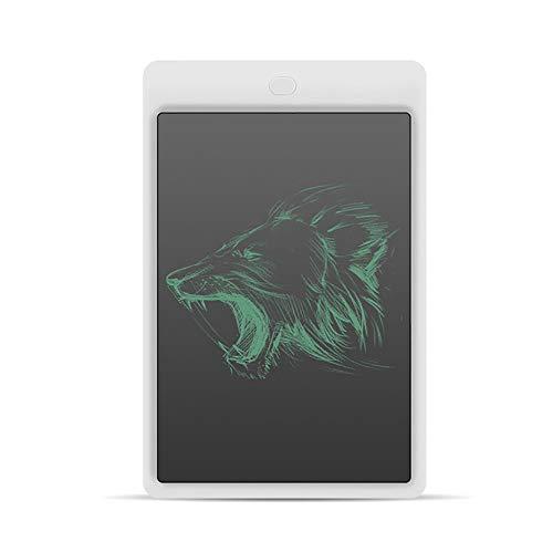 YXFYXF 10-Zoll-LCD-Schreibtablett, Elektronisches Schreiben Doodle Board Tablet Digitaler Ewriter-Block Office Home School Handschrift-Block Notizblock, FüR Kinder Und Erwachsene Lernen,White