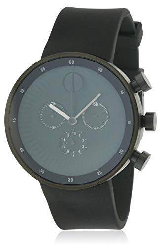 Movado Men's Edge 42mm Silicone Band IP Steel Case Swiss Quartz Watch 3680146