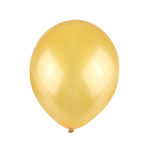 NUOLUX Luftballons Gold,Hochzeits Luftballons,12-Zoll-Latex-Ballon für Party, 100 Stück, ()