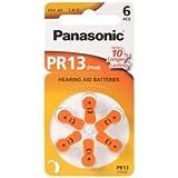 Panasonic PR13 puretone Batería - PR13 Batería: cinc puretone aire 250 mAh PR13H 1,4 V PZA13H PR48 13HPX 13AP 5,4 x 7,9 mm peso. 8 G