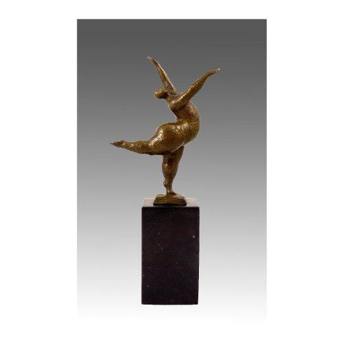 Bronzeskulptur - XXL Tänzerin - balancierend - signiert Milo - Bronzefiguren kaufen - Kunst kaufen