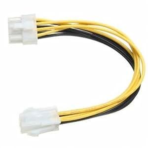 5 pièces 4 broches mâle à 8 broches femelle eps adaptateur câble d'alimentation de bureau atx