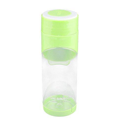 Dealmux Camping Plastique Voyage Sport support pour bouteille de thé d'eau Container Mug Tasse 500 ml Vert