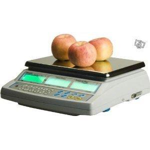 Balance poids-prix ohne Ticket 15kg x 5g–Balance für Handel oder Markt mit Zulassung (Bild Grüne von 2Jahren)