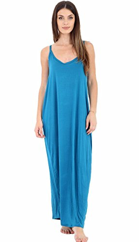 Comfiestyle New Women's Ladies Italian Drape Maxi Women Camisole Strappy Lagenlook Baggy Plus Size Dress. UK 8-26