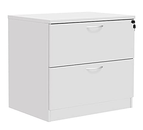 Office Hippo Fraction Plus Lateral Side Filer Filing Cabinet, Two Drawer - White