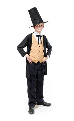 Bristol Novelty CC859Viktorianisches Kostüm, Größe: M, 134cm, Alter: ca. 5–7Jahre, viktorianischer Herr134cm.