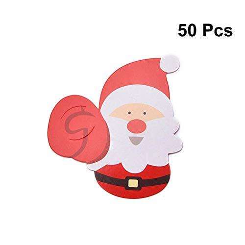 BESTOYARD 25 stücke DIY Weihnachten Handwerk Lutscher Papier Karte mit Santa Form Kinder Handgemachte DIY für Xmas Party Zubehör Gefälligkeiten Mädchen Jungen (Rot)