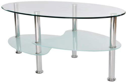 Cara Couchtisch, Milchglas, Rostfreier Stahl von Vida Designs -