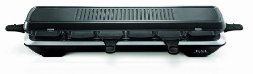 Tefal RE522812 Appareil à Raclette Simply Line Inox 6 coupelles Design
