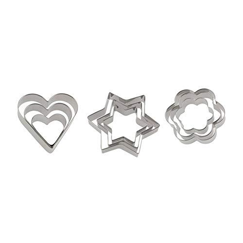Matthew00Felix Estrella de Cinco Puntas de la Galleta Cortador de Galletas en Forma de corazón Corte Amor