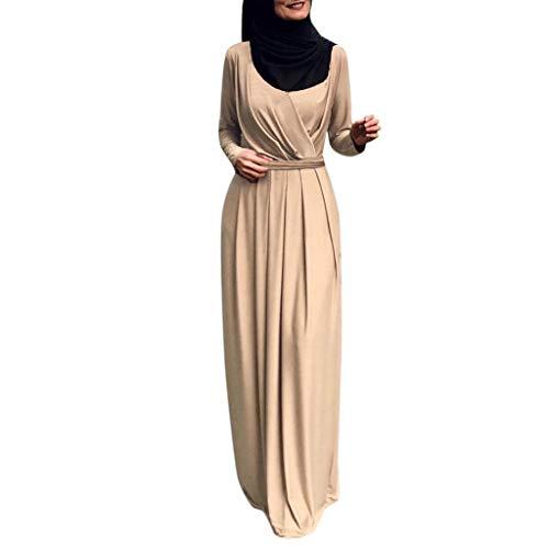 Muslimische Kleider Langes Maxikleid Muslim Robe Kleider Islamische Kleidung Abaya Dubai Kostüm Elegante Muslimischen Kaftan Kleid Frauen Muslims (Latein Kostüm Muster)