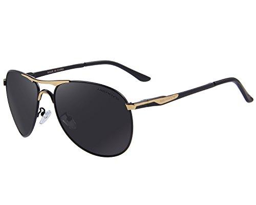 MERRY'S -  Occhiali da sole  - Uomo Nero  Gold&Black
