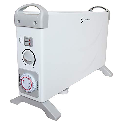 Konvektor Heizung | Heizgerät | Elektro Heizung | Heizstrahler | Elektroheizung | Thermostat | 2000 Watt | 24h Timer | Thermostat | 3 Heizstufen | Überhitzungsschutz | Tragegriffe |