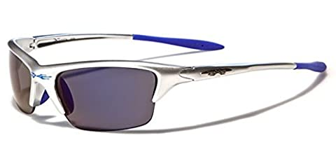 X-Loop - Lunettes de soleil - Homme argent Matte silver/blue/smoke lenses