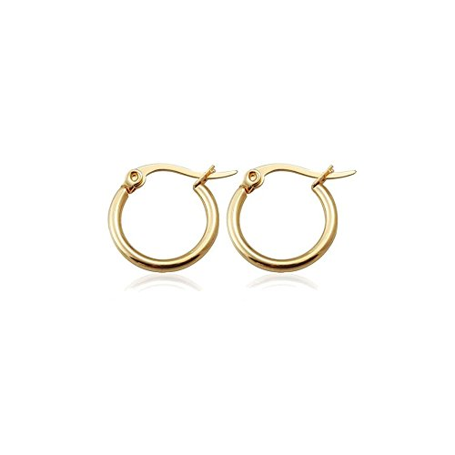 Small Gold Hoop Earrings Amazon Co Uk