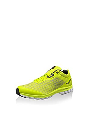 Reebok Men's Sublite Super Duo Yellow,Grey,Silver and White Running Shoes - 6 UK