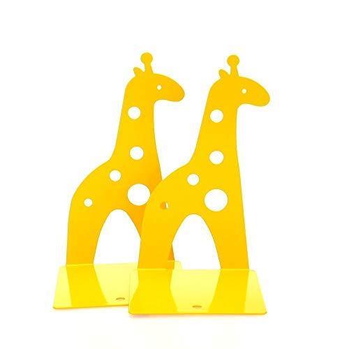Schreibwaren 210mm süße Giraffe rutschfeste Buchstützen Kunst Geschenk - gelb - 1 Paar Lieferungen