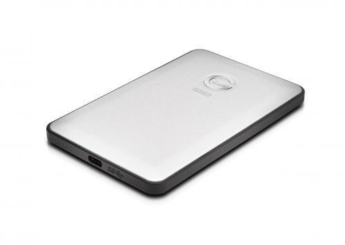 G-TECH G-DRIVE slim SSD USB-C 1TB 6,4cm 2,5Zoll Silver Retail GDRSUCEA10001DDB
