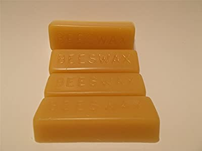 4 Pure Beeswax blocks - 100% pure and natural beeswax from LiveMoor