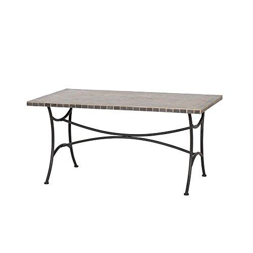 Siena Garden Tisch Ponza, 150x90x73cm, Gestell: Stahl, pulverbeschichtet in anthrazit, Tischplatte: Keramik