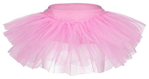 """tanzmuster Tutu Ballettrock """"Pia"""" für Kinder. Ein Ballettröckchen, das aus jedem Ballett Trikot sofort ein Tutu zaubert, in rosa, Größe:116/122"""