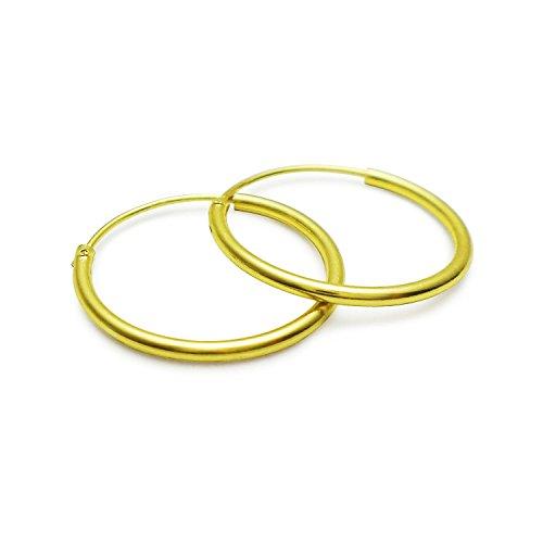 slj-16mm-925-sterling-silver-endless-hoop-earrings-flash-gold-anti-tarnish-light-weight-fine-jewelry