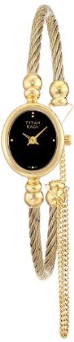 Titan Raga Gold Metal Jewellery Bangle Design, Bracelet Clasp, Quartz Glass, Water Resistant Analog Wrist Watch