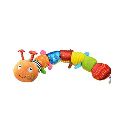 Lomsarsh Musikspielzeug Tier Crinkle Rassel Weich mit Ring Glocke Kleinkind Plüschtier Multifunktionale Raupe Plüschtier Puzzle Spaß Musik Bug Höhe Rod Puppe -