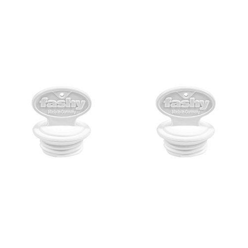 Preisvergleich Produktbild fashy 6014 Wärmflaschen Ersatz-Verschluss, groß, Gewinde Ø 29mm, weiß (2 Stück)