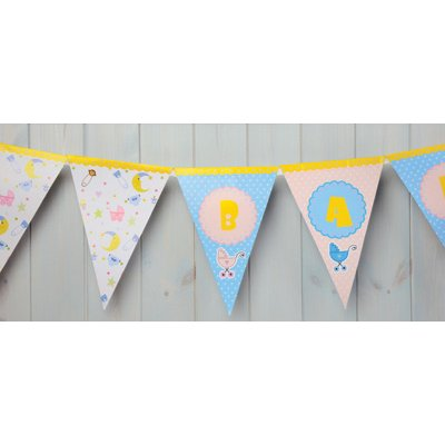 Club Green  Baby Shower Bunting  Blue  3 m