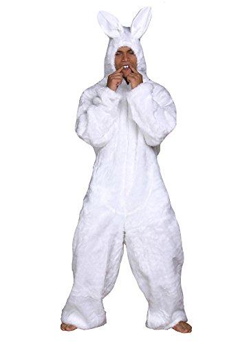 (Hasenkostüm weiß Tierkostüm Hase Plüschkostüm (Medium))