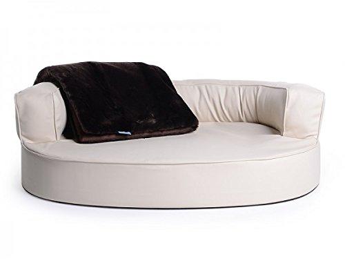 'cani letto, cani divano atlanta in ecopelle color crema impermeabile, feels like heaven