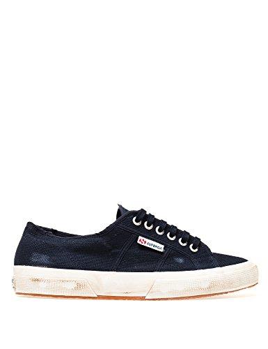 Superga 2750 Lavaggio Stone Wash, Unisex Sneaker Blu Scuro