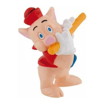 Figurine plastique 3 petits cochons Disney Bully Les Petit cochon au violon