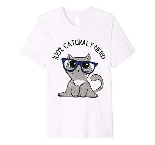 (Liebenswürdig, Katze Buch Nerd T-Shirt)