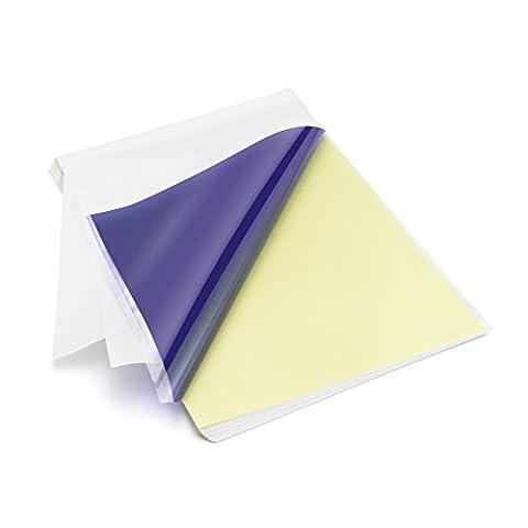 LifeBasis 50feuilles de papier de transfert de tatouage papier Copieur (Trasferimento Termico Materiale)