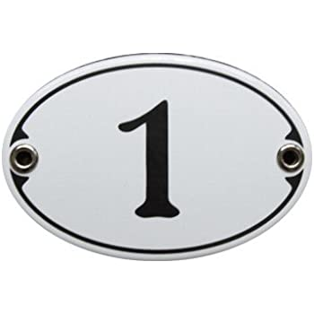 Amazon.de: Wetterfestes Emaille Türschild oval mit Wunschtext 10 ...