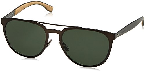 BOSS Hugo Herren 0882/S 85 0S3 Sonnenbrille, Braun (Mtbrwn Dkrut/Grey Green), 57